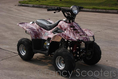 Peace Mini  Dinosaur ATV (110cc) Camouflage with Front Hand/Rear Foot Brake
