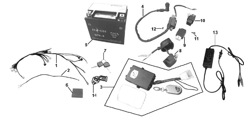 Pride Scooter Wiring Diagram besides Roketa Scooters 50cc 2 Cycle Wiring Diagram in addition Sunl 100cc Wiring Diagram additionally Kawasaki Kvf 300 Wiring Diagram as well Honda 250 Dirt Bike Wiring Diagrams. on baja 50 atv wiring diagram